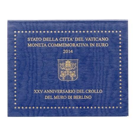 (EUR19.ComBU&BE.2014.200.BU.COM1.000000002) 2 euro Vatican 2014 - Mur de Berlin Recto