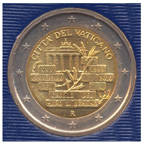 (EUR19.ComBU&BE.2014.200.BU.COM1.000000002) 2 euro commémorative Vatican 2014 BU - Mur de Berlin Avers