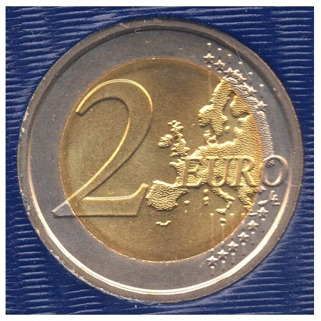 (EUR19.ComBU&BE.2014.200.BU.COM1.000000002) 2 euro commémorative Vatican 2014 BU - Mur de Berlin Revers