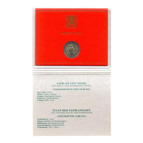 (EUR19.ComBU&BE.2016.200.BU.COM2) 2 euro Vatican 2016 - Jubilé de la Miséricorde (avers et informations)
