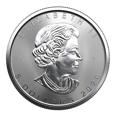 (W037.500.2020.1.ag.bullco.1) 5 Dollars Canada 2020 1 once argent - Feuille d'érable Avers