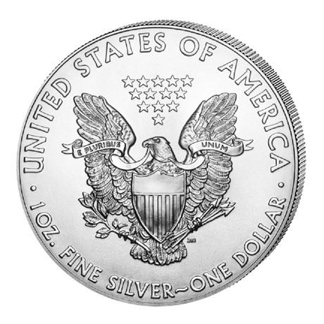 (W071.100.2020.1.ag.bullco.1) 1 Dollar Etats-Unis 2020 1 once argent - Aigle américain Revers