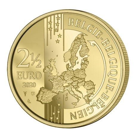 (EUR02.ComBU&BE.2020.250.BU.COM1) 2,5 euro Belgique 2020 BU - Jeux Olympiques Anvers Avers