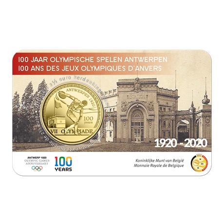 (EUR02.ComBU&BE.2020.250.BU.COM1) 2,5 euro Belgique 2020 BU - Jeux Olympiques Anvers Recto