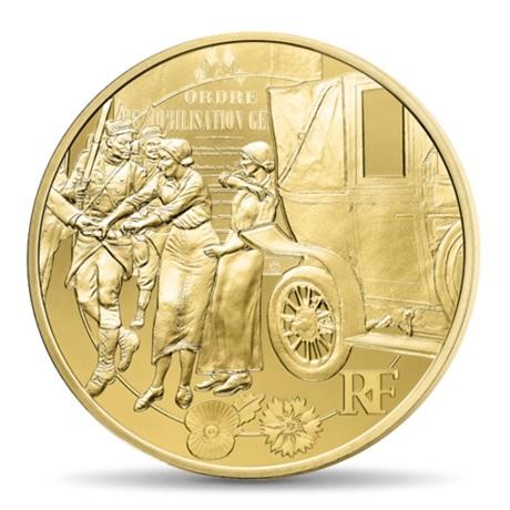 (EUR07.ComBU&BE.2014.10041286750000) 50 euro France 2014 Au BE - Première Guerre mondiale Avers