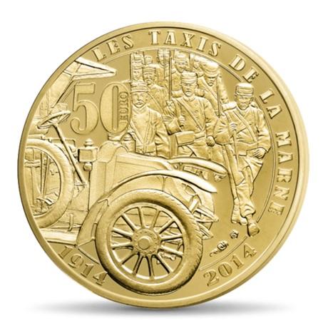 (EUR07.ComBU&BE.2014.10041286750000) 50 euro France 2014 Au BE - Première Guerre mondiale Revers