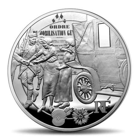 (EUR07.ComBU&BE.2014.10041286770000) 50 euro France 2014 Argent BE - Première Guerre mondiale Avers