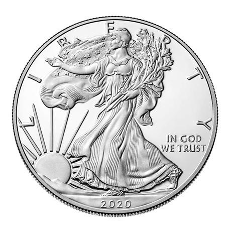 (W071.100.2020_W.1.ag.BE.bullco.1) 1 Dollar Etats-Unis 2020 W 1 once Ag BE - Aigle américain Avers