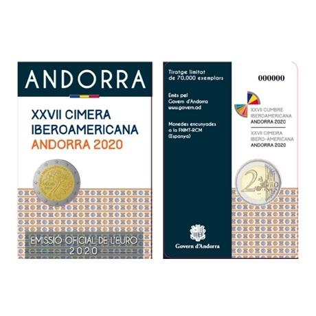 2 euro Andorre 2020 BU - Sommet ibéro-américain