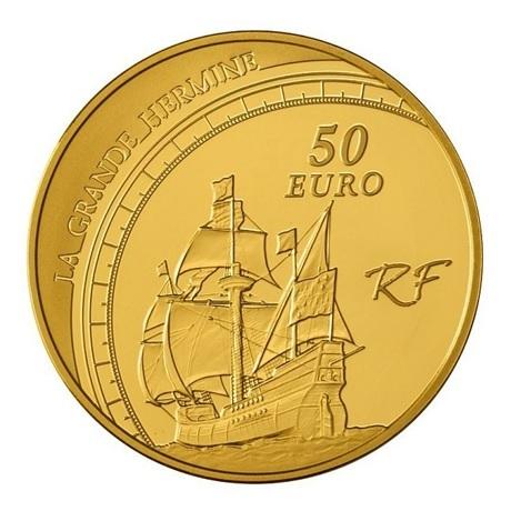 (EUR07.ComBU&BE.2011.10041268880000) 50 euro France 2011 Au BE - Jacques Cartier Revers
