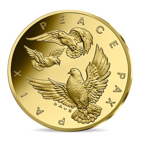 (EUR07.ComBU&BE.2020.10041349450000) 10 euro France 2020 or BE - Paix Avers