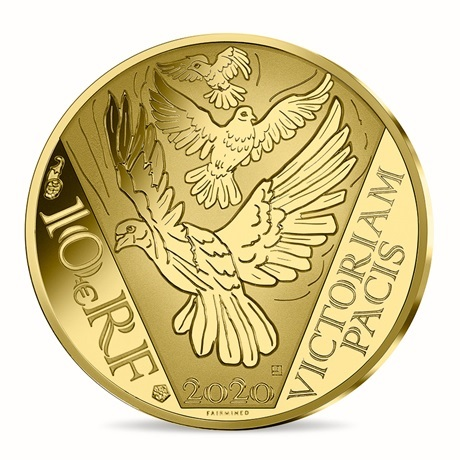 (EUR07.ComBU&BE.2020.10041349450000) 10 euro France 2020 or BE - Paix Revers