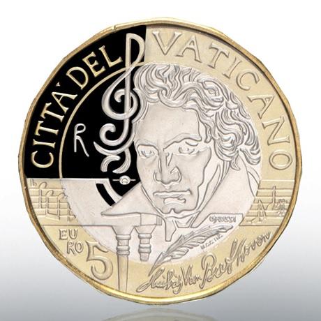 (EUR19.ComBU&BE.2020.CN1541) 5 euro Vatican 2020 BE - Beethoven Avers