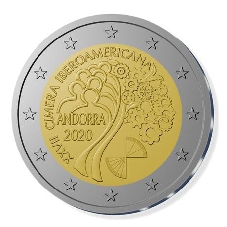(EUR24.ComBU&BE.2020.200.BU.COM1) 2 euro Andorre 2020 BU - Sommet ibéro-américain