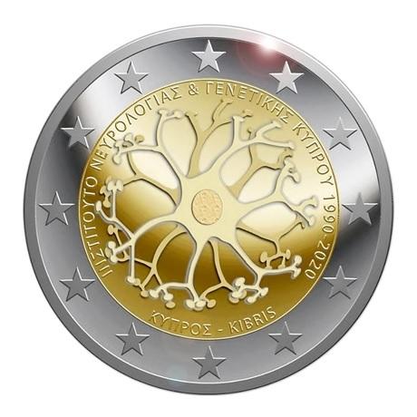 2 euro commémorative Chypre 2020 - Institut chypriote de neurologie et de génétique