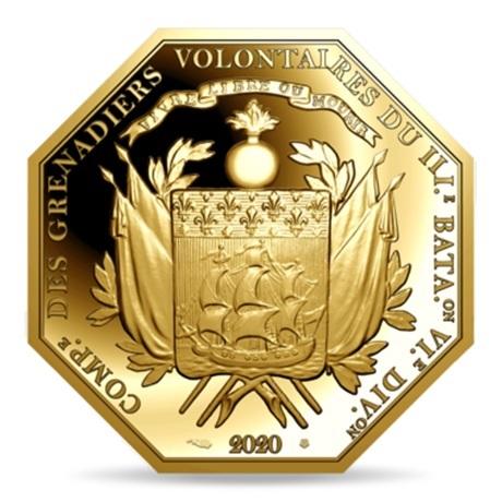 (EUR07.ComBU&BE.2020.10041344010000) 200 euro France 2020 or BE - La Fayette Revers