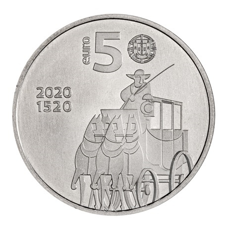 (EUR15.500.2020.12500531) 5 euro Portugal 2020 - Bureau de Poste Avers