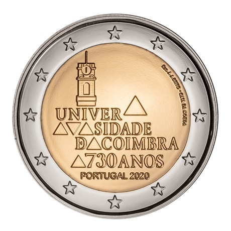 (EUR15.ComBU&BE.2020.1024125) 2 euro Portugal 2020 BU - Université de Coimbra Avers