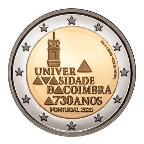 (EUR15.ComBU&BE.2020.1024126) 2 euro Portugal 2020 BE - Université de Coimbra Avers