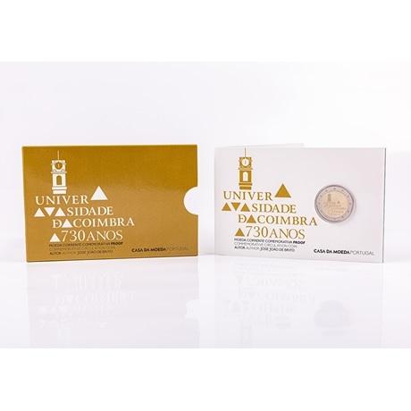 (EUR15.ComBU&BE.2020.1024126) 2 euro Portugal 2020 BE - Université de Coimbra (packaging)