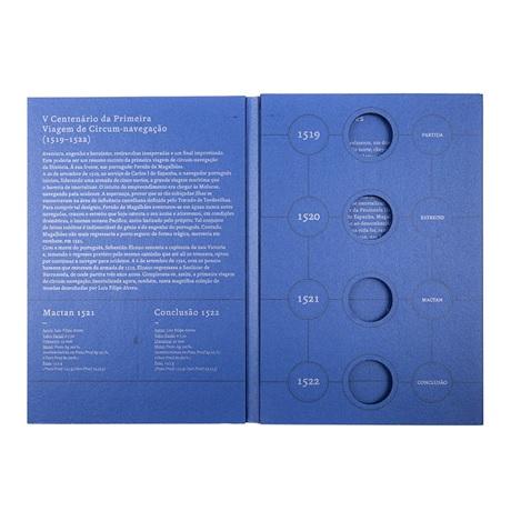 (MAT.INCM.Alb&feu.Alb.7002992) Album collector Monnaie du Portugal - Magellan (intérieur)