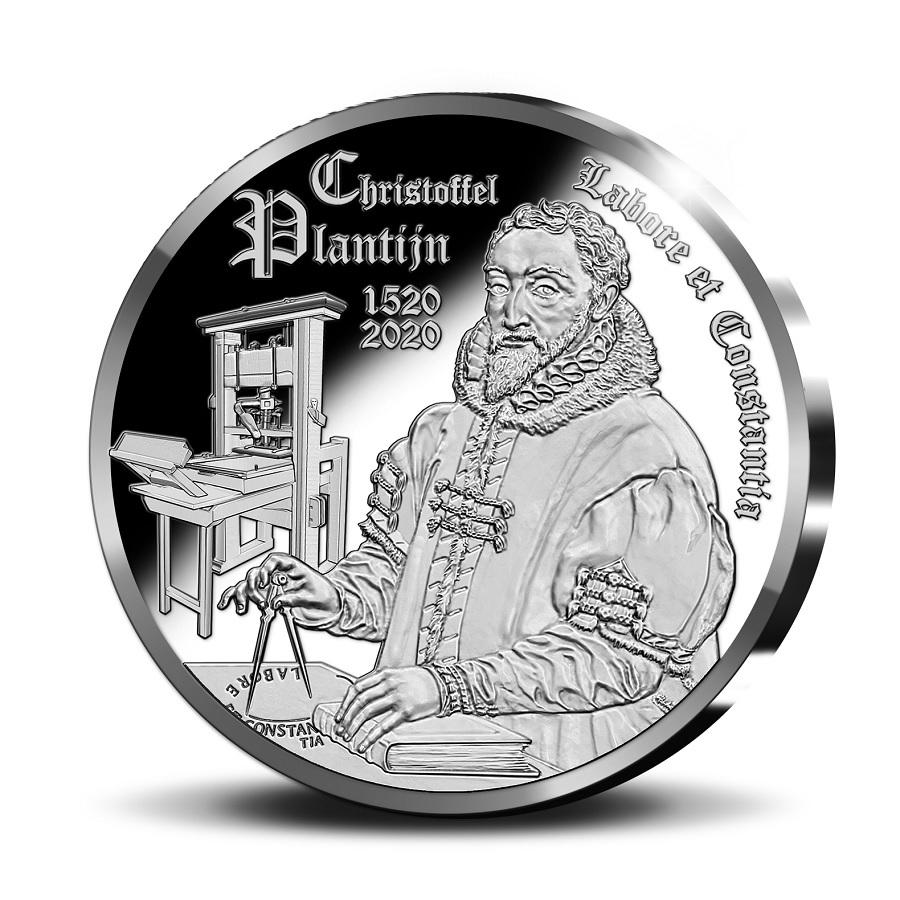 (EUR02.ComBU&BE.2020.1000.BE.COM1) 10 euro Belgium 2020 Proof Ag - Christophe Plantin Reverse (zoom)
