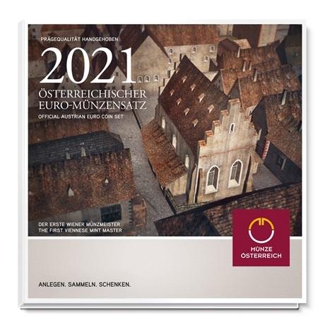(EUR01.CofBU&FDC.2021.24613) Coffret BU Autriche 2021