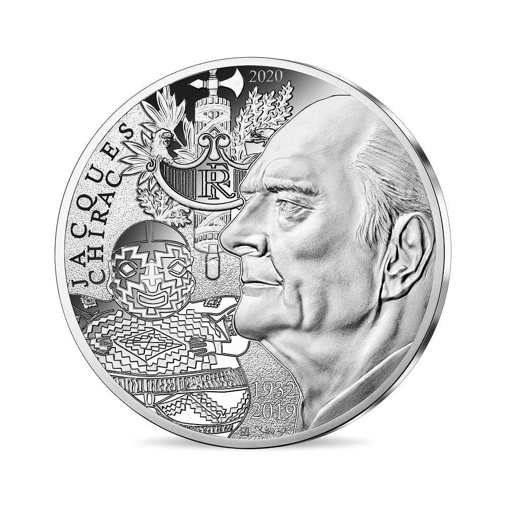 (EUR07.1000.2020.10041349410005) 10 euro France 2020 silver - Jacques Chirac Obverse (zoom)
