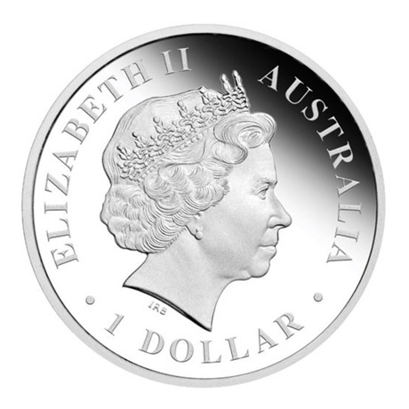 (W017.1.D.2012.1218DBAA) 1 Dollar Australie 2012 1 once argent BE - Goanna Avers