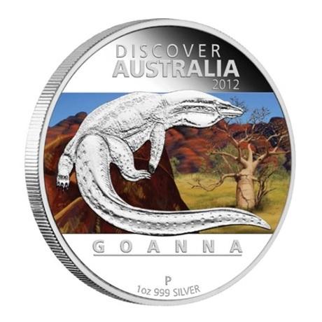(W017.1.D.2012.1218DBAA) 1 Dollar Australie 2012 1 once argent BE - Goanna Revers