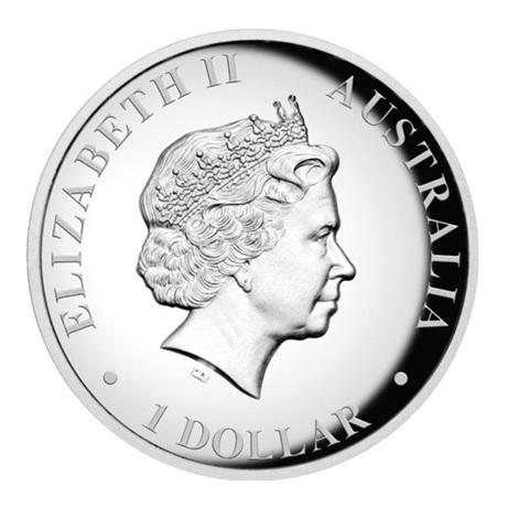 (W017.1.D.2012.1234DAAA) 1 Dollar Australie 2012 1 once argent BE - Kangourou Avers