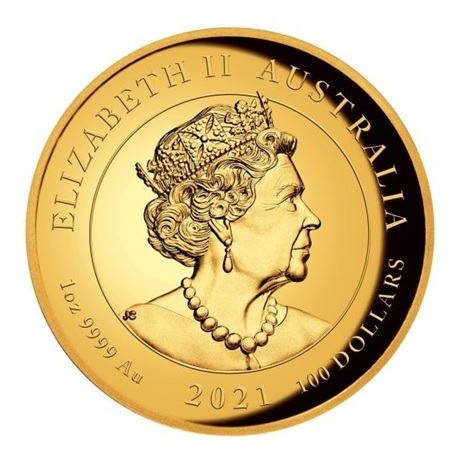 (W017.10000.2021.1.oz.Au.1) 100 Dollars Australie 2021 1 once or BE - Victoire ailée Avers