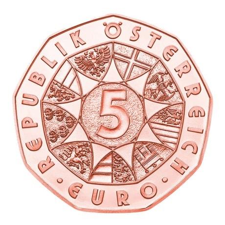 (EUR01.500.2021.24611) 5 euro Autriche 2021 - Janus Avers