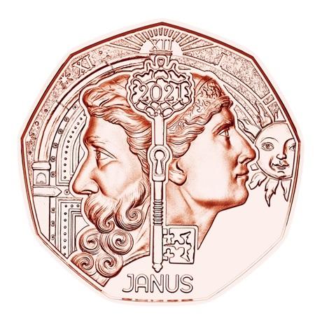(EUR01.500.2021.24611) 5 euro Autriche 2021 - Janus Revers