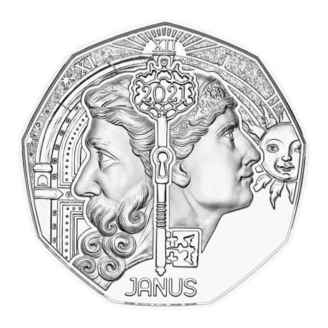 (EUR01.ComBU&BE.2021.24612) 5 euro Autriche 2021 argent BU - Janus Revers