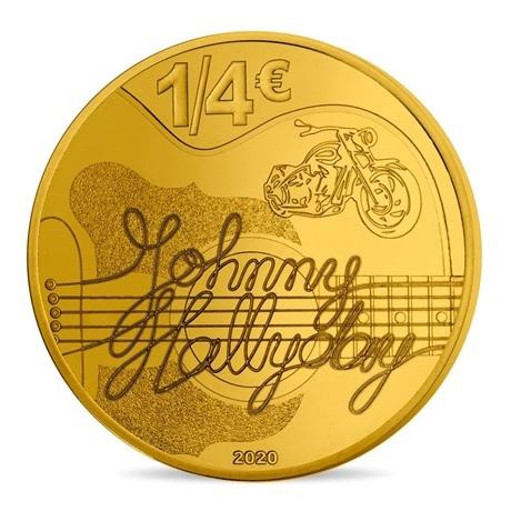 (EUR07.025.2020.10041349360000) 0,25 euro France 2020 - Johnny Hallyday Revers