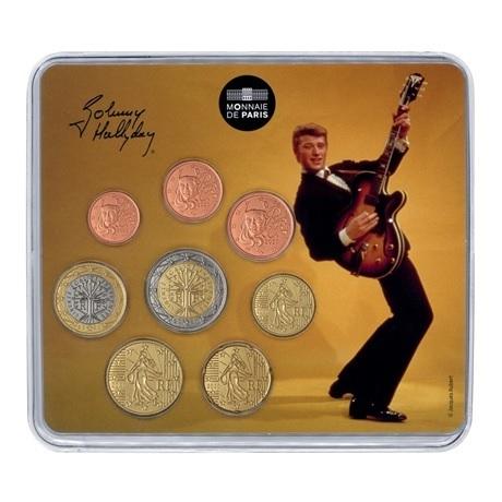 (EUR07.CofBU&FDC.2020.10041349400000) Mini-set BU France 2020 - Johnny Hallyday et sa guitare Recto