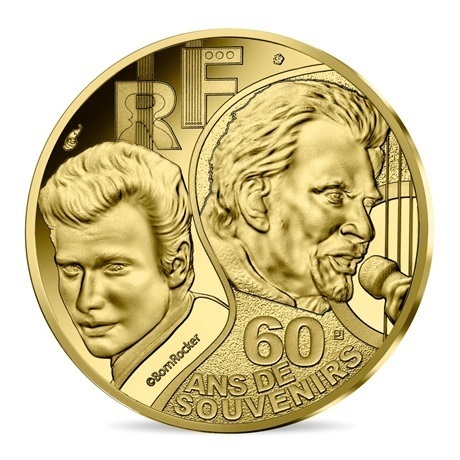 (EUR07.ComBU&BE.2020.10041344280000) 50 euro France 2020 or BE - Johnny Hallyday Avers