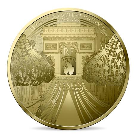 (EUR07.ComBU&BE.2020.10041344340000) 50 euro France 2020 or BE - Champs Elysées Avers
