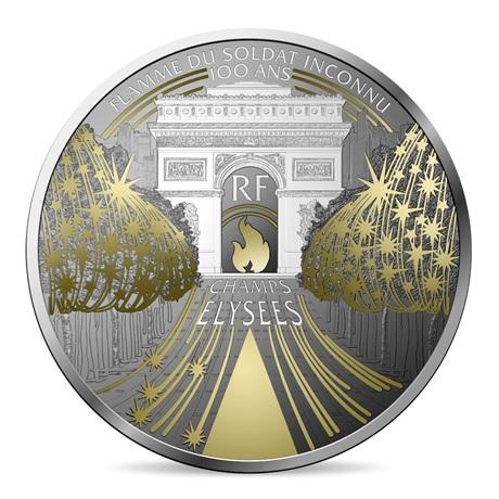 (EUR07.ComBU&BE.2020.10041344350000) 50 euro France 2020 argent BE - Champs Elysées Avers