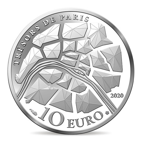 (EUR07.ComBU&BE.2020.10041344360000) 10 euro France 2020 argent BE - Champs Elysées Revers