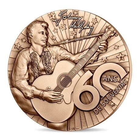 (FMED.Méd.MdP.n.d._2020_.CuZn.100113520000P0) Médaille bronze - Johnny Hallyday Avers