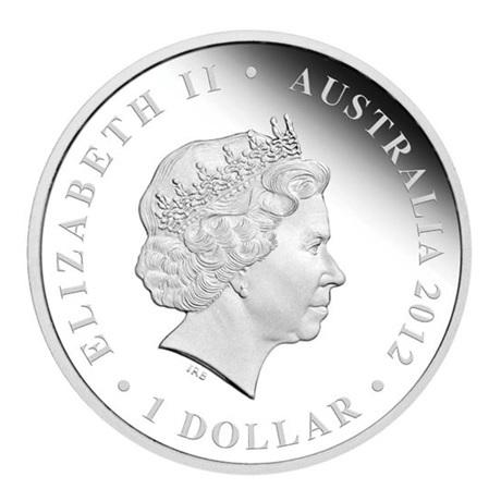 (W017.1.D.2012.12R11AAA) 1 Dollar Australie 2012 1 once argent BE - Bataille de Kapyong Avers