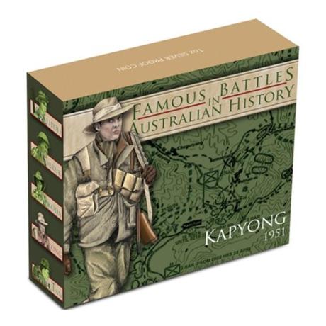 (W017.1.D.2012.12R11AAA) 1 Dollar Australie 2012 1 oz Ag BE - Bataille de Kapyong (boîte)
