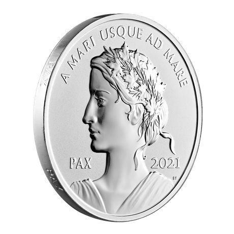 (W037.1.D.2021.179014) 1 Dollar Paix 2021 - Ag BE (tranche)