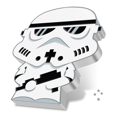 (W160.200.2020.30-01016) 2 Dollars Niue 2020 1 once argent BE - Chibi Stormtrooper (tranche)