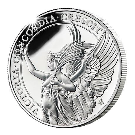 (W191.1.P.2021.SH21) 1 Pound Victoire 2021 - Argent BE Revers