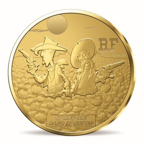 (EUR07.ComBU&BE.2021.10041356270000) 50 euro France 2021 or BE - Lucky Luke Avers