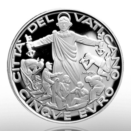 (EUR19.ComBU&BE.2020.CN1549) 5 euro Vatican 2020 argent BE - Journée mondiale migrants et réfugiés Revers