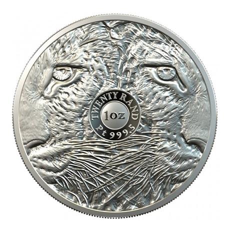 (W002.20.R.2020.1.oz.Pt.2) 20 Rand Afrique du Sud 2020 1 once platine BE - Léopard Revers